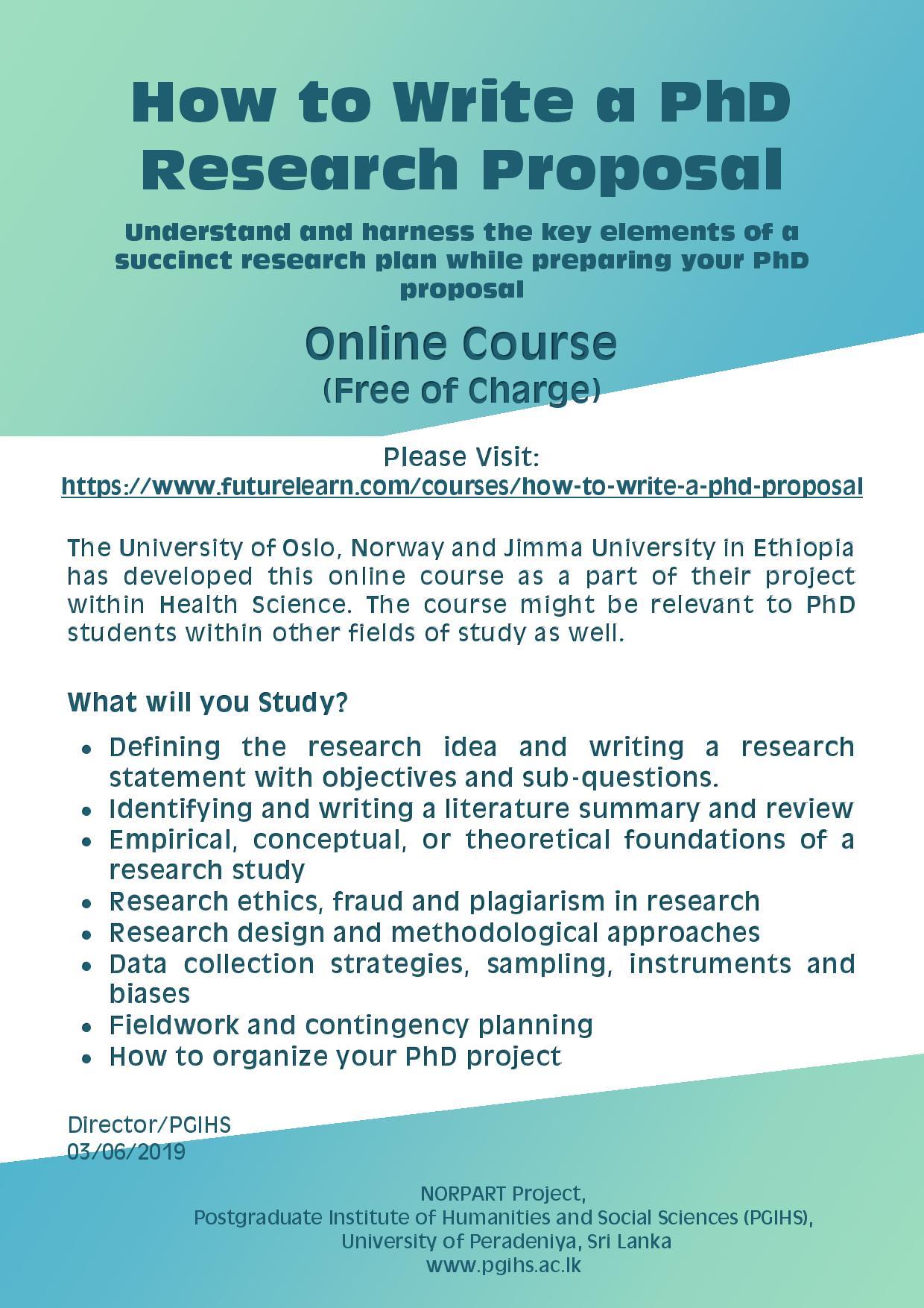 Short research proposal phd
